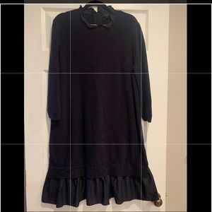 COS Navy Blue Sweater Dress